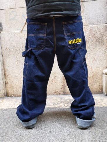 OUTSIDER Baggy Pants Dark Blue
